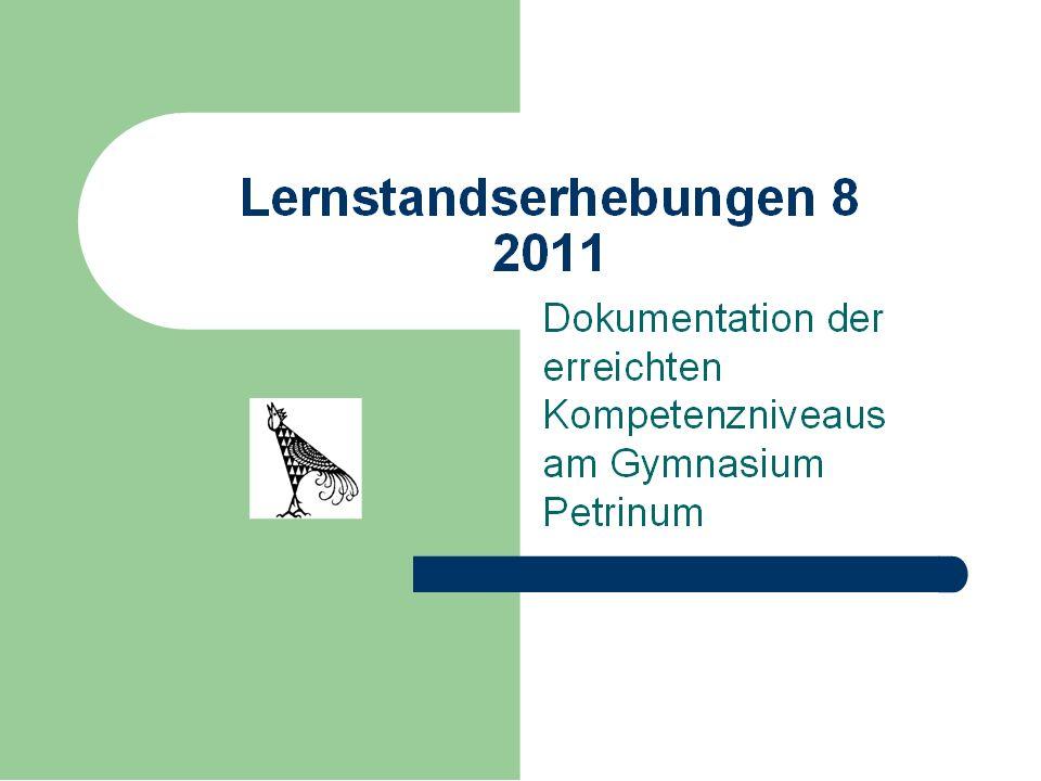 DEUTSCH Leseverstehen 2011 Jahrgangsstufe 8 GP ++