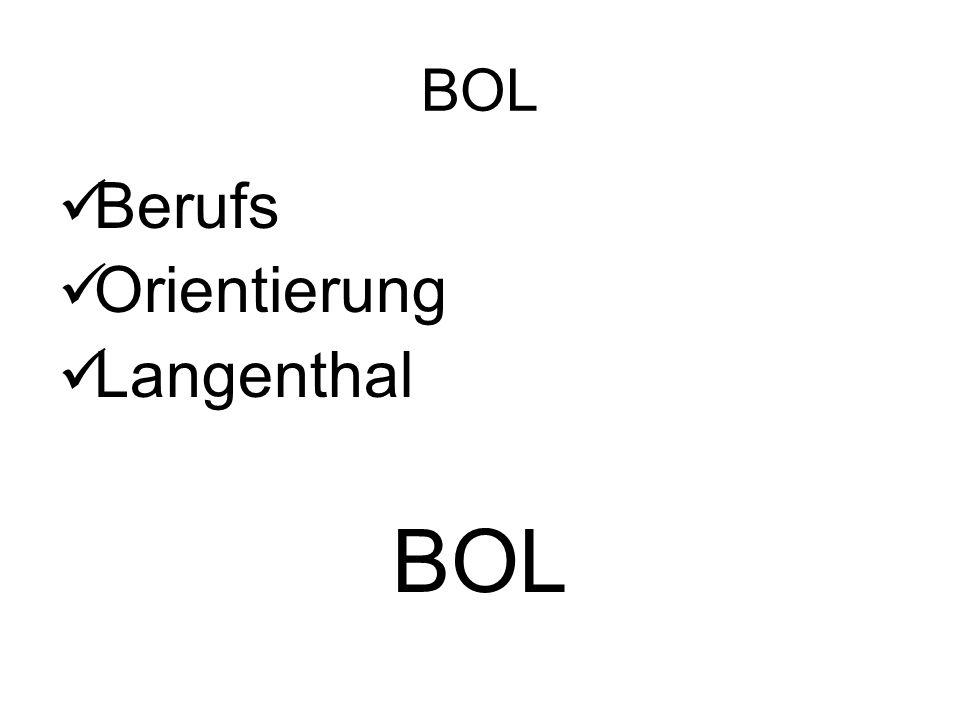 Berufs Orientierung Langenthal BOL