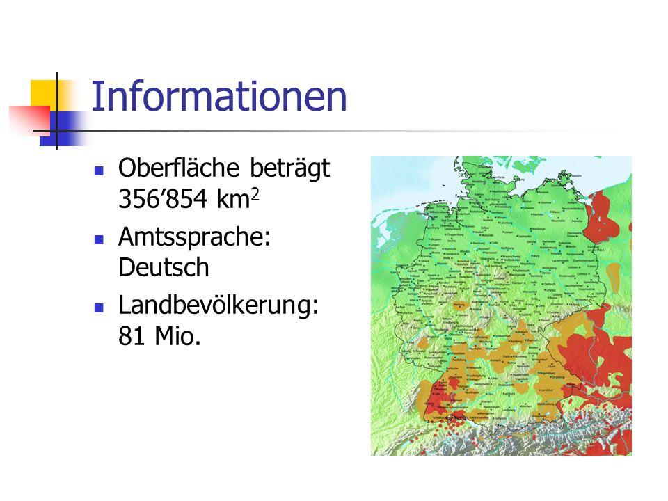 Administrativzerfall Deutschland ist in 16 Bundesländer geteilt.