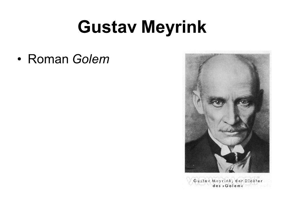 Gustav Meyrink Roman Golem
