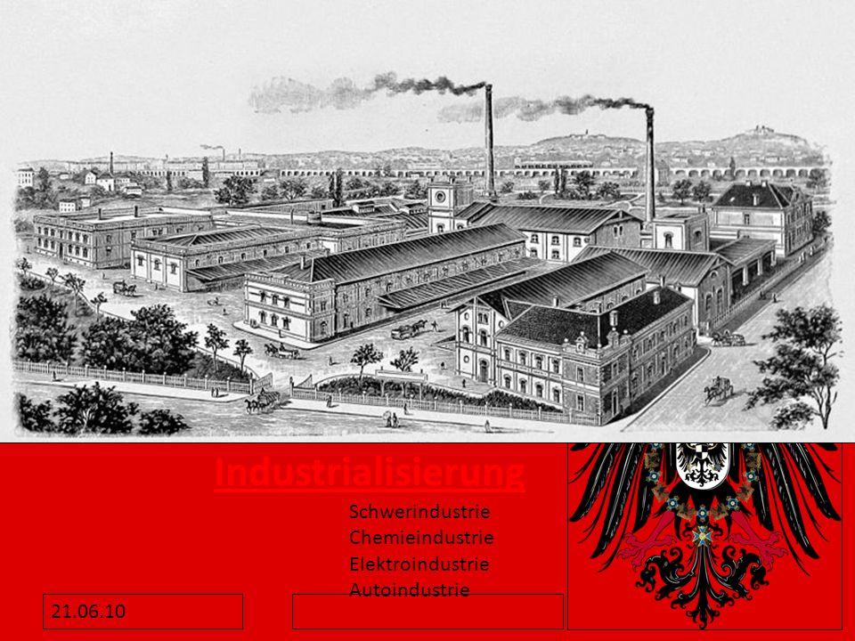 Industrialisierung Schwerindustrie Chemieindustrie Elektroindustrie Autoindustrie