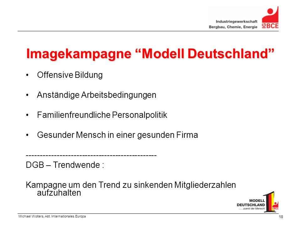 Michael Wolters, Abt. Internationales.Europa 18 Imagekampagne Modell Deutschland Offensive Bildung Anständige Arbeitsbedingungen Familienfreundliche P
