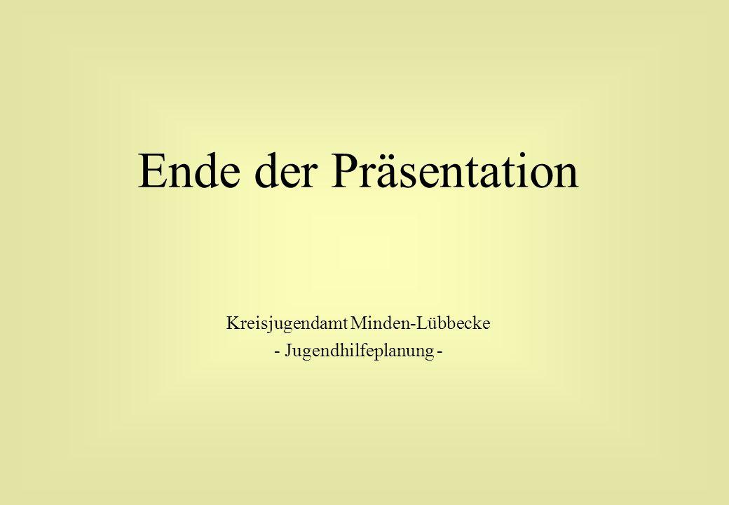Ende der Präsentation Kreisjugendamt Minden-Lübbecke - Jugendhilfeplanung -