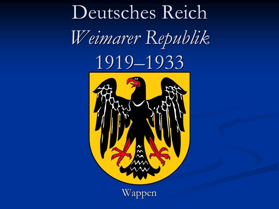 Deutsches Reich Weimarer Republik 1919–1933 Wappen