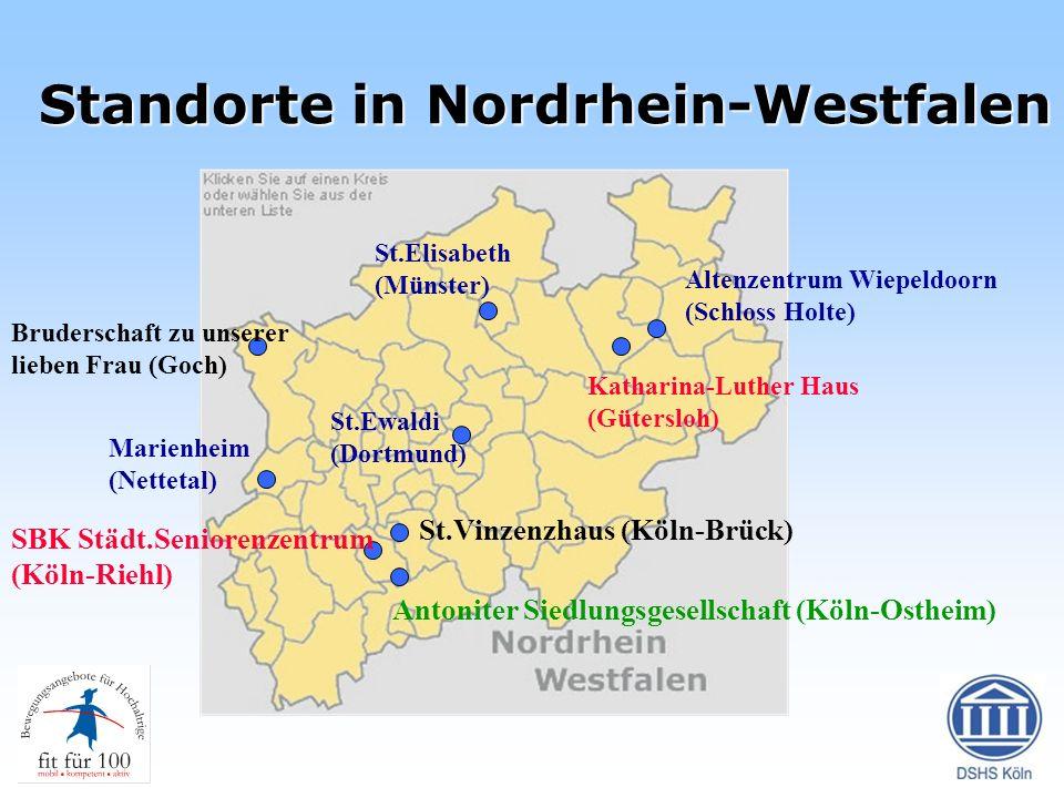 Standorte in Nordrhein-Westfalen St.Elisabeth (Münster) Altenzentrum Wiepeldoorn (Schloss Holte) Bruderschaft zu unserer lieben Frau (Goch) St.Ewaldi