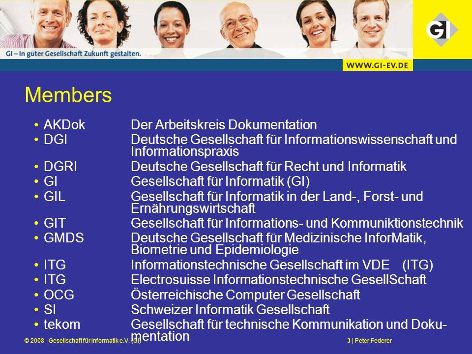 © 2008 - Gesellschaft für Informatik e.V.