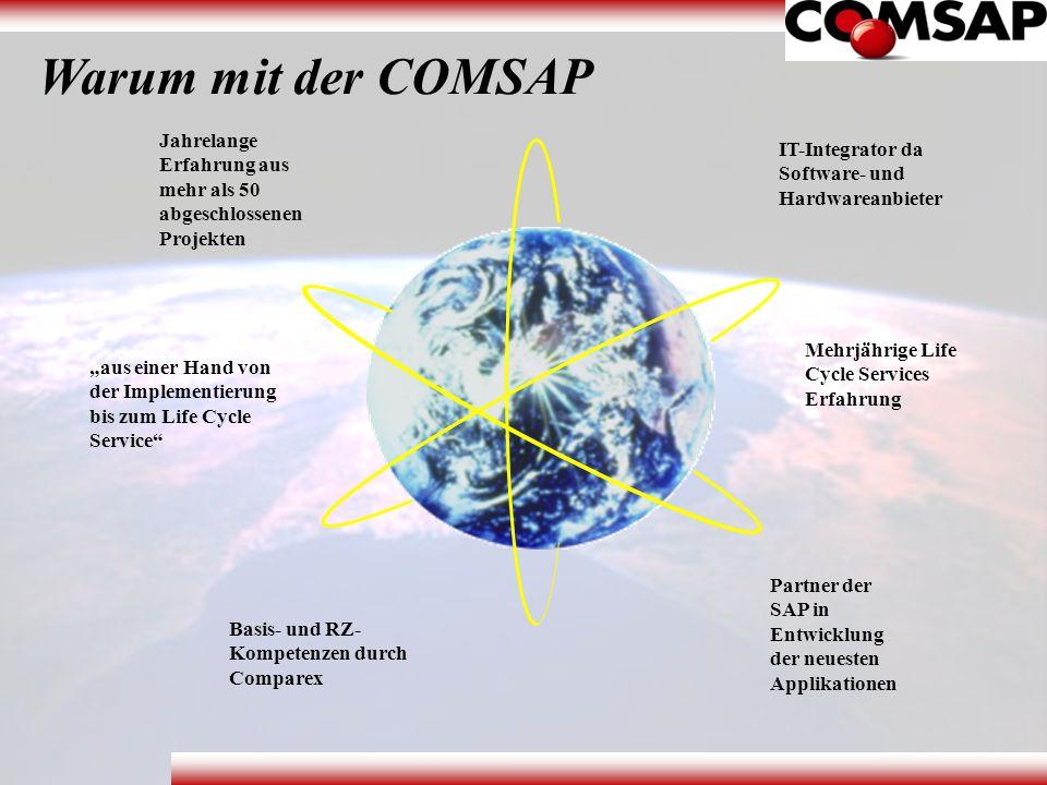 Warum mit der COMSAP Jahrelange Erfahrung aus mehr als 50 abgeschlossenen Projekten IT-Integrator da Software- und Hardwareanbieter Mehrjährige Life C