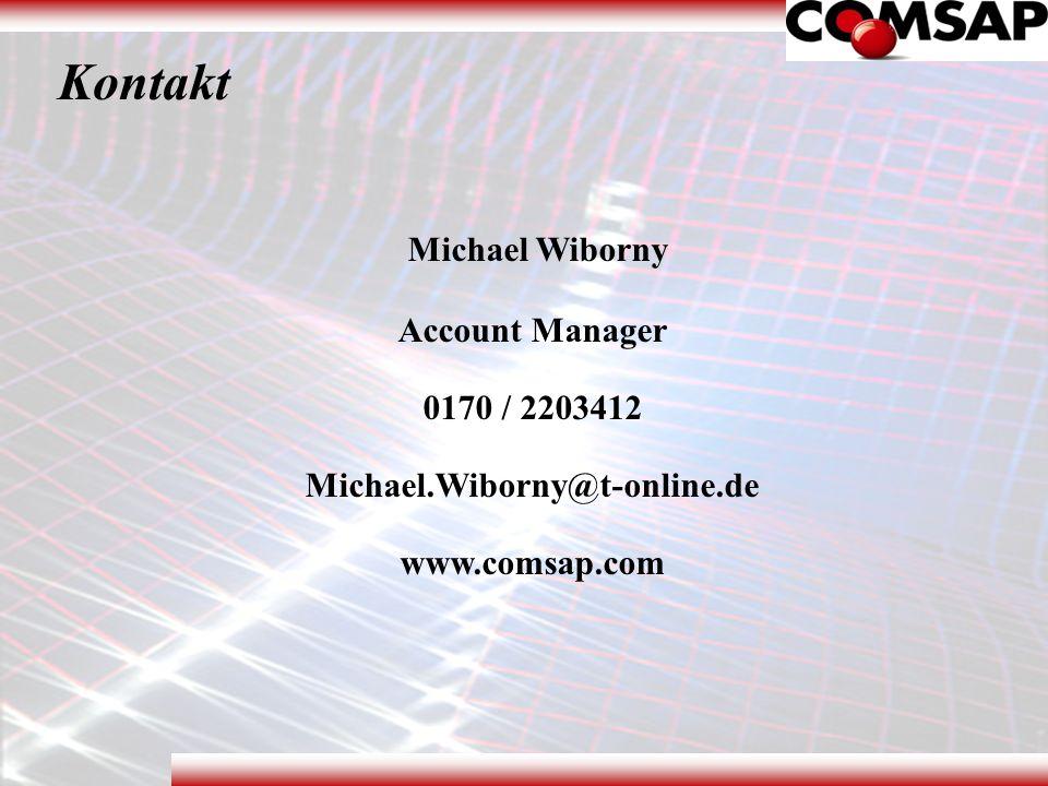 Kontakt Michael Wiborny Account Manager 0170 / 2203412 Michael.Wiborny@t-online.de www.comsap.com www.comsap.com
