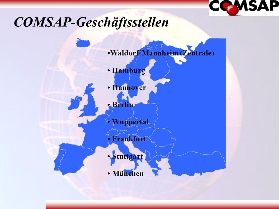 COMSAP-Geschäftsstellen Waldorf/ Mannheim (Zentrale) Hamburg Hannover Berlin Wuppertal Frankfurt Stuttgart München