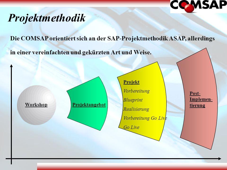 Projektmethodik Die COMSAP orientiert sich an der SAP-Projektmethodik ASAP, allerdings in einer vereinfachten und gekürzten Art und Weise. WorkshopPro