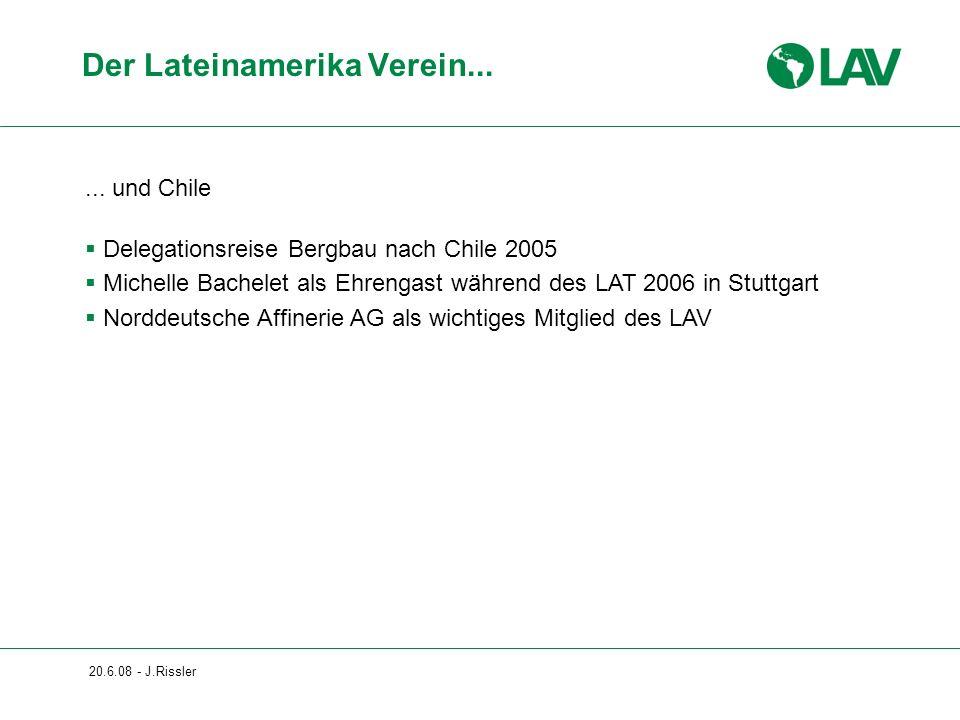 20.6.08 - J.Rissler... und Chile Delegationsreise Bergbau nach Chile 2005 Michelle Bachelet als Ehrengast während des LAT 2006 in Stuttgart Norddeutsc