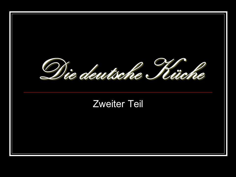 Die deutsche Küche Zweiter Teil