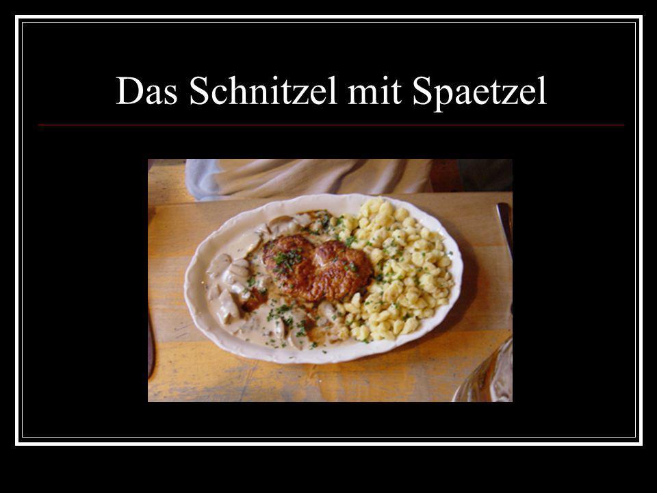 Das Schnitzel mit Spaetzel