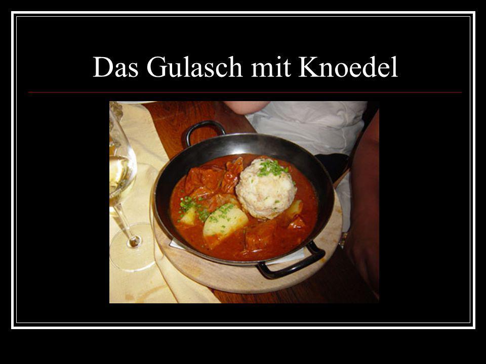 Das Gulasch mit Knoedel