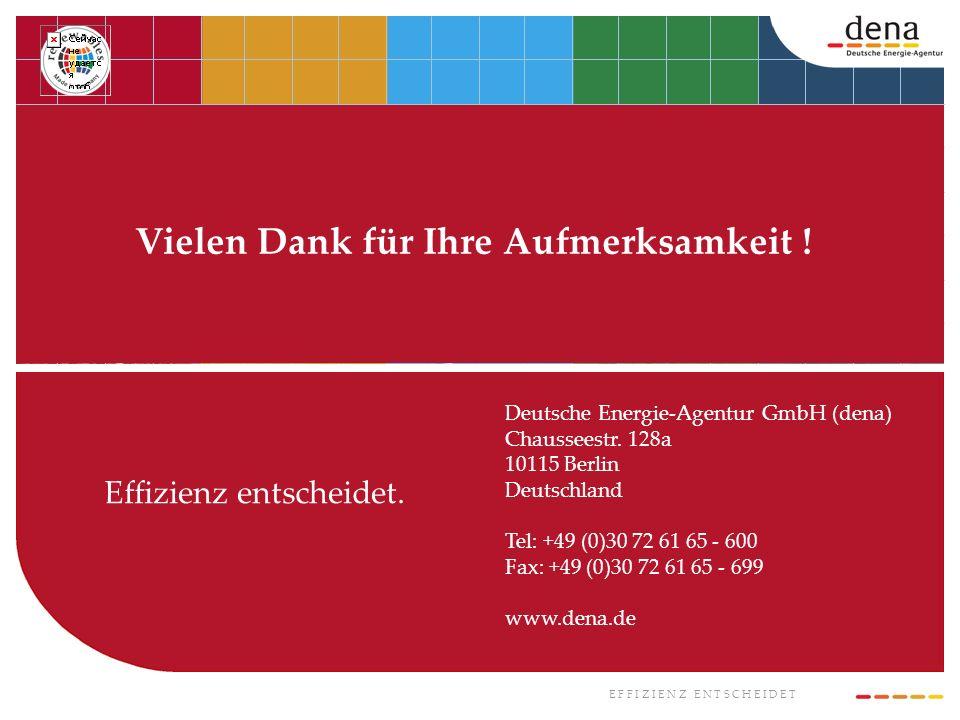 E F F I Z I E N Z E N T S C H E I D E T Effizienz entscheidet. Deutsche Energie-Agentur GmbH (dena) Chausseestr. 128a 10115 Berlin Deutschland Tel: +4
