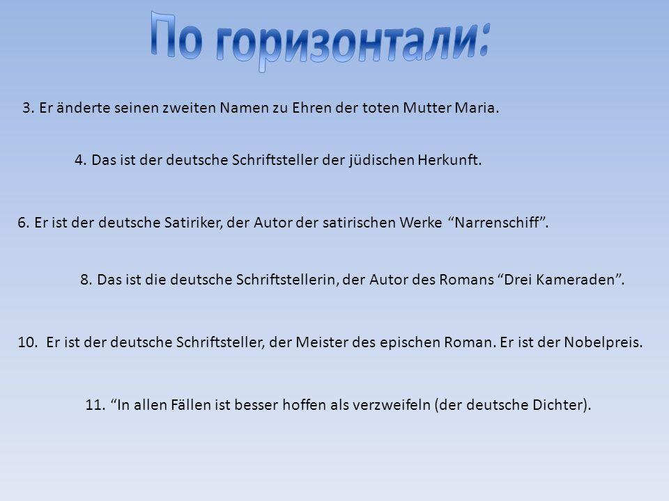 1.Er ist der Gründer des Theaters Berliner Ensemble.