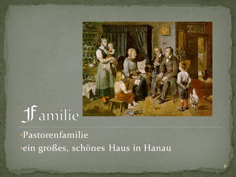 Pastorenfamilie ein großes, schönes Haus in Hanau 2