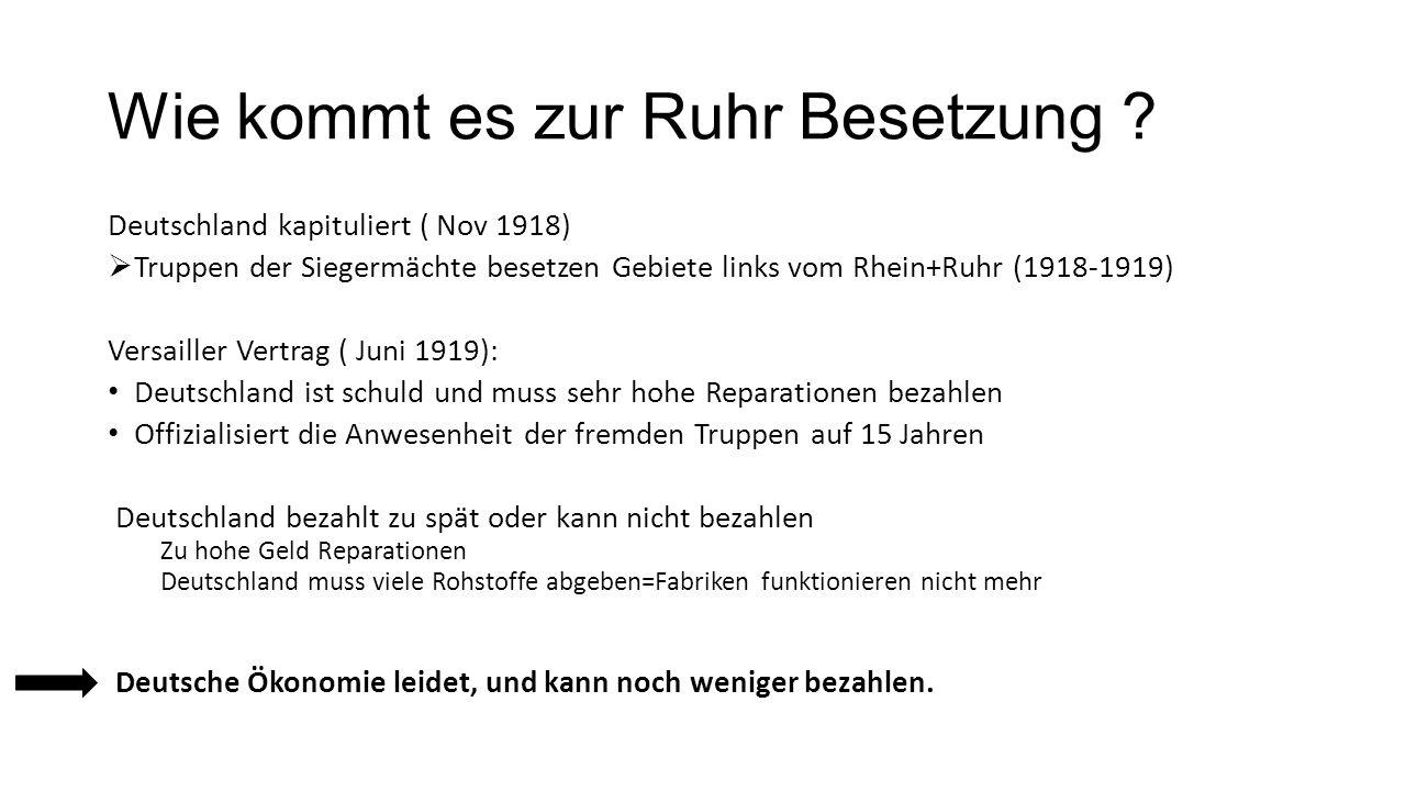 Wie kommt es zur Ruhr Besetzung .