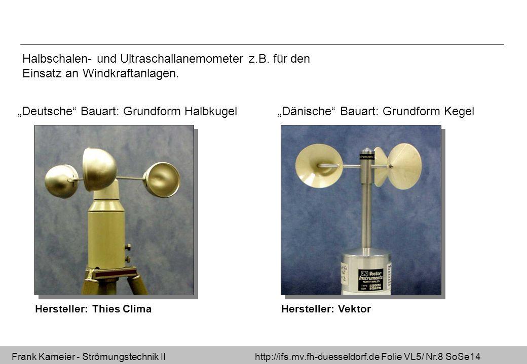 Frank Kameier - Strömungstechnik II http://ifs.mv.fh-duesseldorf.de Folie VL5/ Nr.29 SoSe14 Messblende – DIN EN ISO 5167 - kompressibel [ m 3 /s ] [ kg/s ] Isentropenexponent für Luft zwei Messgrößen