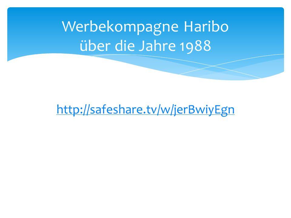 http://safeshare.tv/w/jerBwiyEgn Werbekompagne Haribo über die Jahre 1988