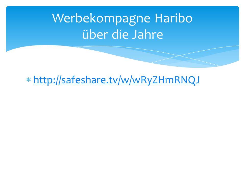 http://safeshare.tv/w/wRyZHmRNQJ Werbekompagne Haribo über die Jahre