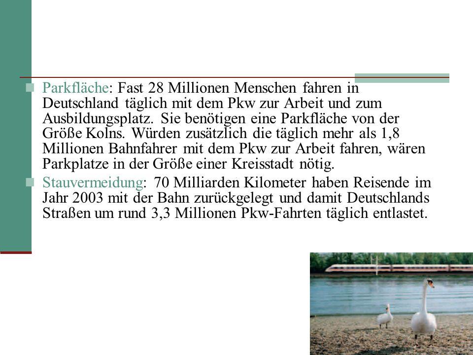 Parkfläche: Fast 28 Millionen Menschen fahren in Deutschland täglich mit dem Pkw zur Arbeit und zum Ausbildungsplatz.