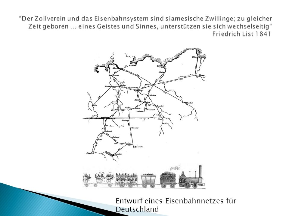 Entwurf eines Eisenbahnnetzes für Deutschland