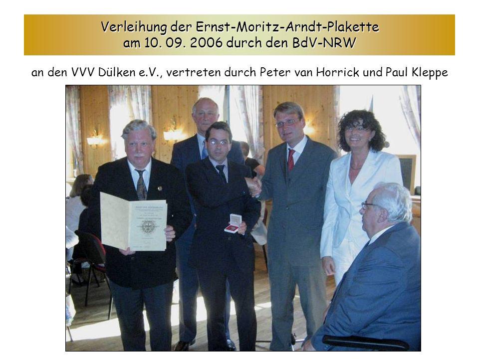 Verleihung der Ernst-Moritz-Arndt-Plakette am 10.09.