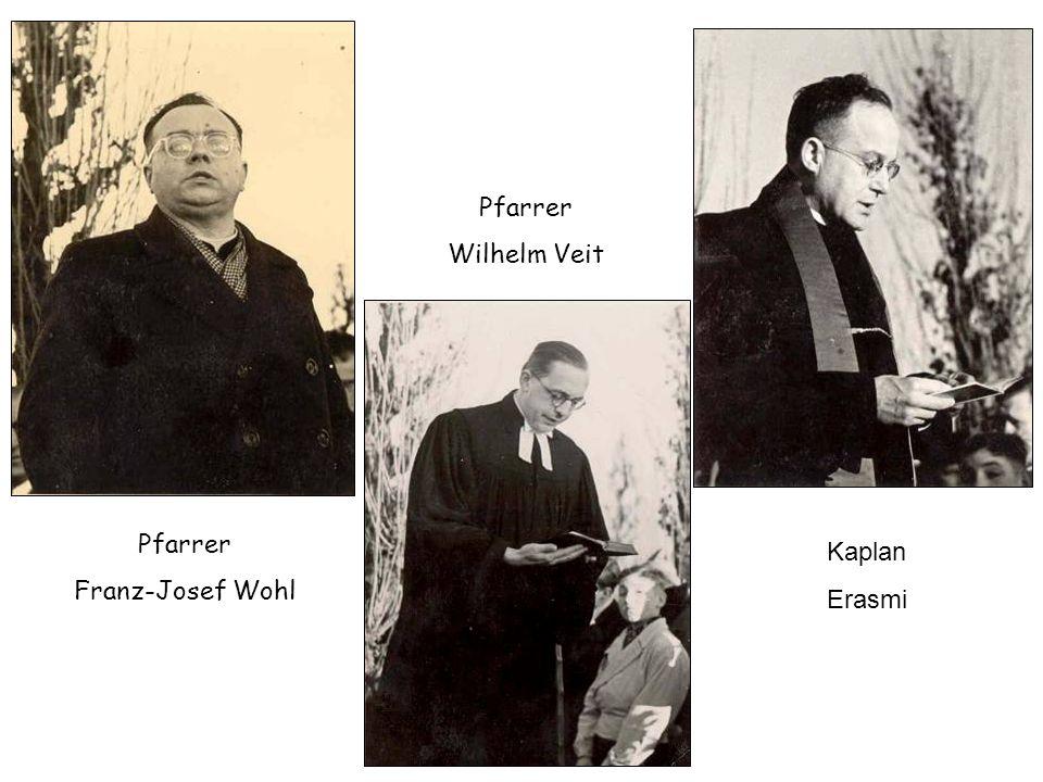 Lehrer Eugen Kulczinski (BdV-Ortsvorsitzender 1951-1962) Bürgermeister Adolf Bex