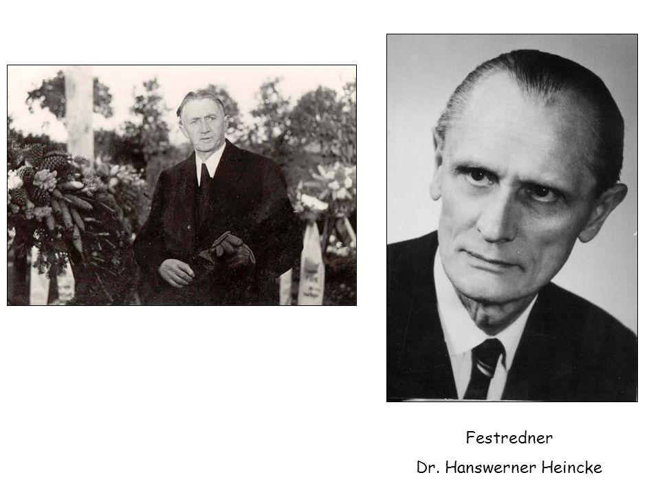 Festredner Dr. Hanswerner Heincke