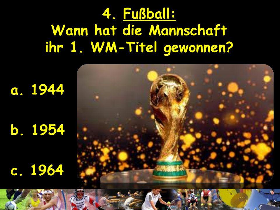 3. Olympische Spiele: Welche deutsche Stadt wollte die Sommerspiele 2012 organisieren? a. Berlin b. Leipzig c. München