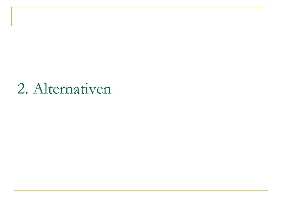 2. Alternativen