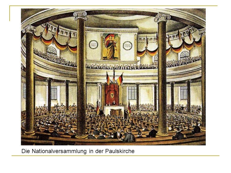 Die Nationalversammlung in der Paulskirche