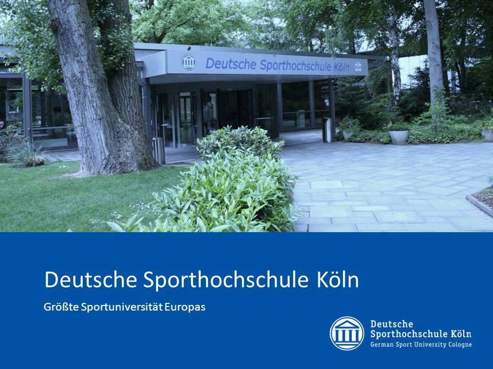 Sabine Mustermann Musterinstitut Die Deutsche Sporthochschule Köln mitten im Grün des Kölner Westen 2 © Deutsche Sporthochschule Köln, www.dshs-koeln.de, Stabsstelle Presse und Kommunikation18.05.2014