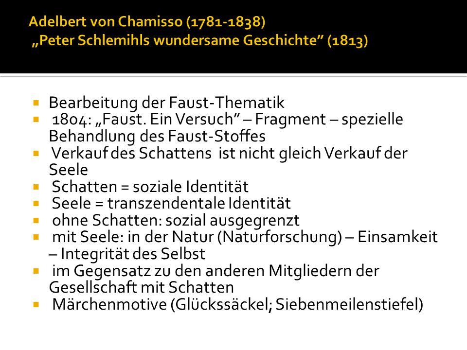 Bearbeitung der Faust-Thematik 1804: Faust.