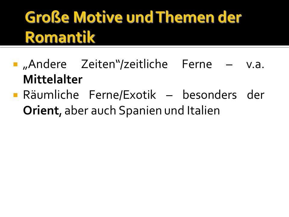 Andere Zeiten/zeitliche Ferne – v.a.