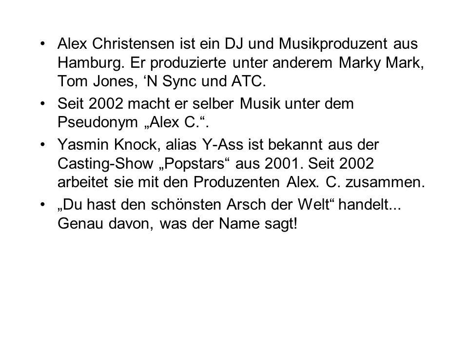 Alex Christensen ist ein DJ und Musikproduzent aus Hamburg. Er produzierte unter anderem Marky Mark, Tom Jones, N Sync und ATC. Seit 2002 macht er sel