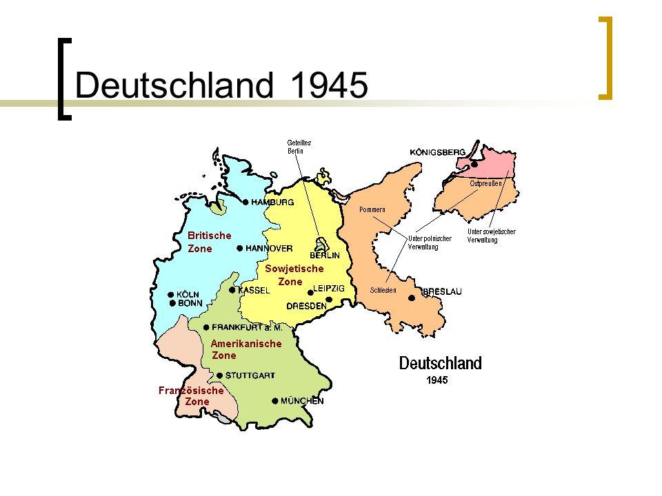 DDR und BRD entsteht (1949) SBZ (Sowjetische Besatzungszone) stellt Weichen auf Sozialismus SED (Sozialistische Einheitspartei) entsteht Wirtschaftskommission und Wirtschaftsrat entstehen 1949 Gründung von DDR und BRD