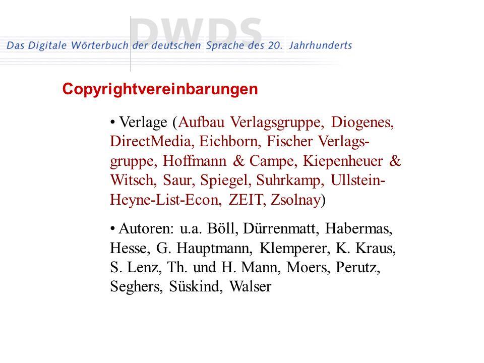 Verlage (Aufbau Verlagsgruppe, Diogenes, DirectMedia, Eichborn, Fischer Verlags- gruppe, Hoffmann & Campe, Kiepenheuer & Witsch, Saur, Spiegel, Suhrka