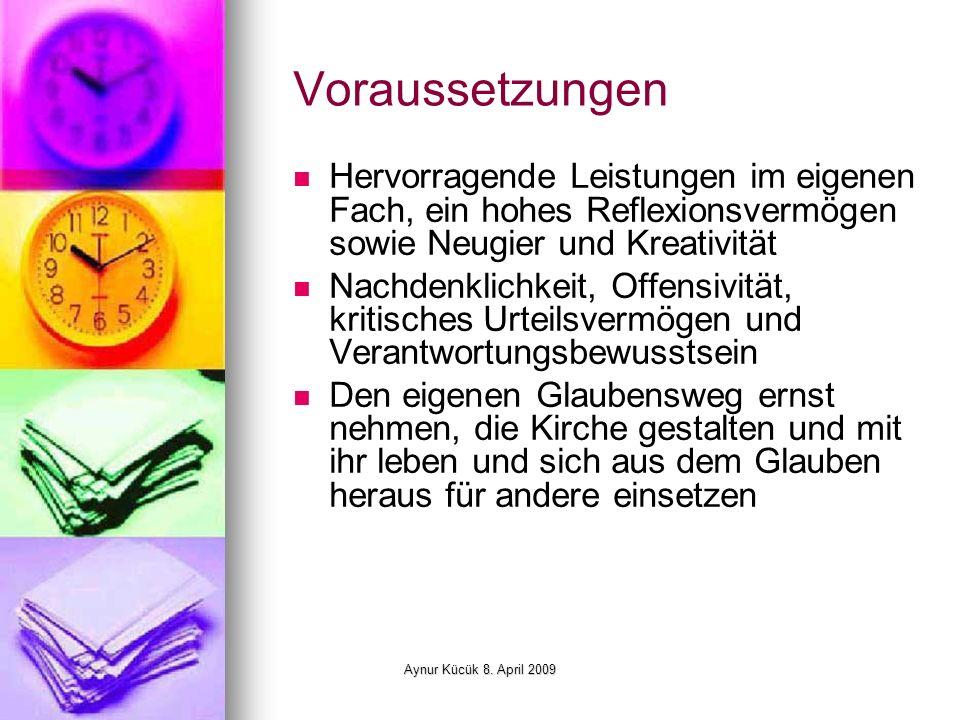 Aynur Kücük 8.April 2009 Kontakt Konrad-Adenauer-Stiftung e.V.