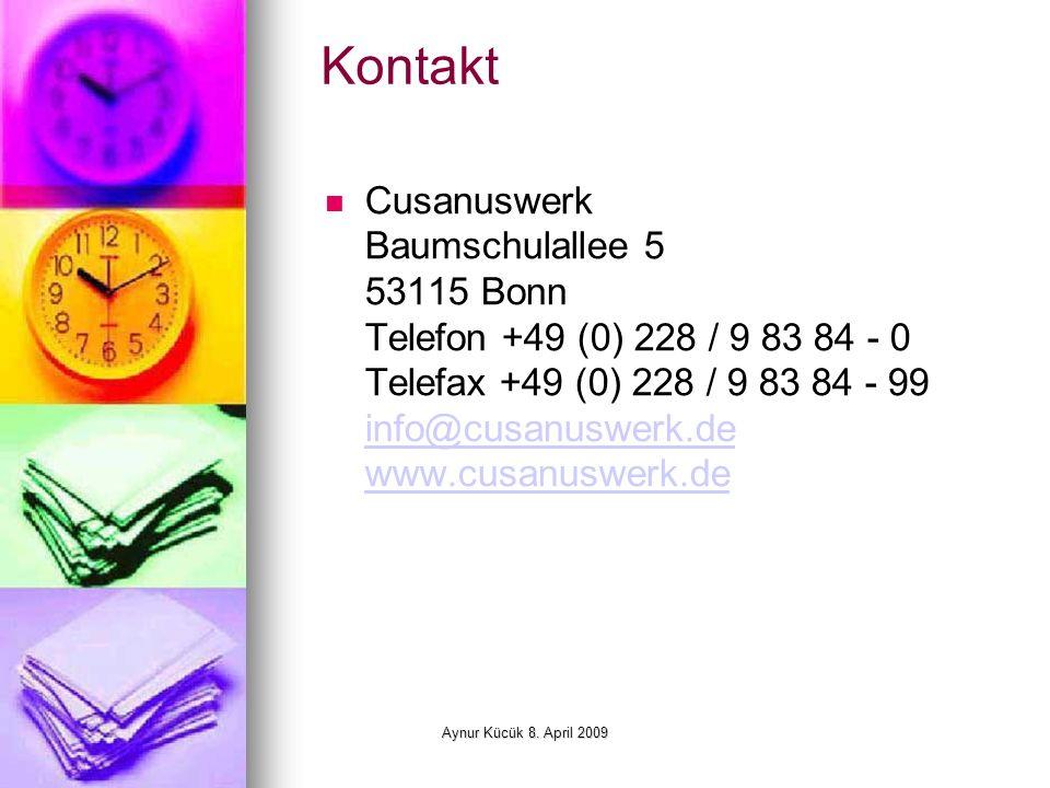Aynur Kücük 8.April 2009 Evangelische Studienwerk e.V.