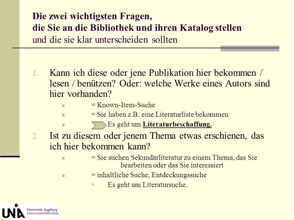Homepage der Universitätsbibliothek Germanistik-Seite unter dem Menüpunkt Informationen zu einzelnen Fächern