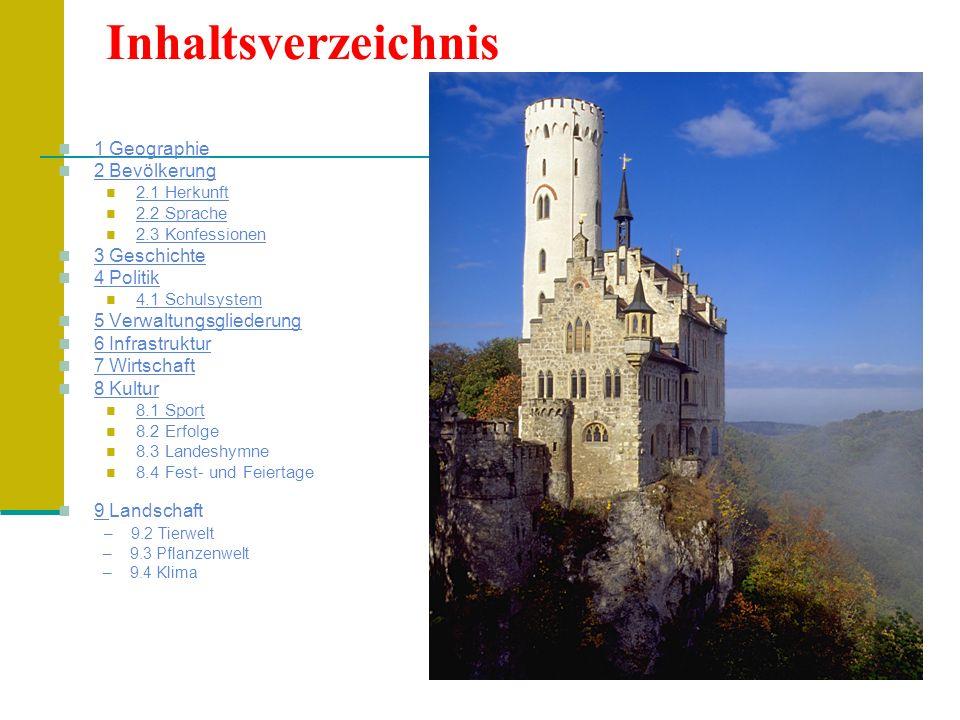 9.2 Pflanzenwelt (1) Im Fürstentum Liechtenstein wächst auf 160 Quadratkilometern Landesfläche eine vielfältige Flora.