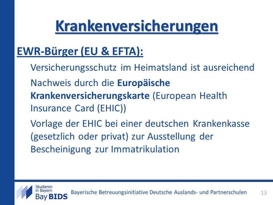 EWR-Bürger (EU & EFTA): Versicherungsschutz im Heimatsland ist ausreichend Nachweis durch die Europäische Krankenversicherungskarte (European Health I