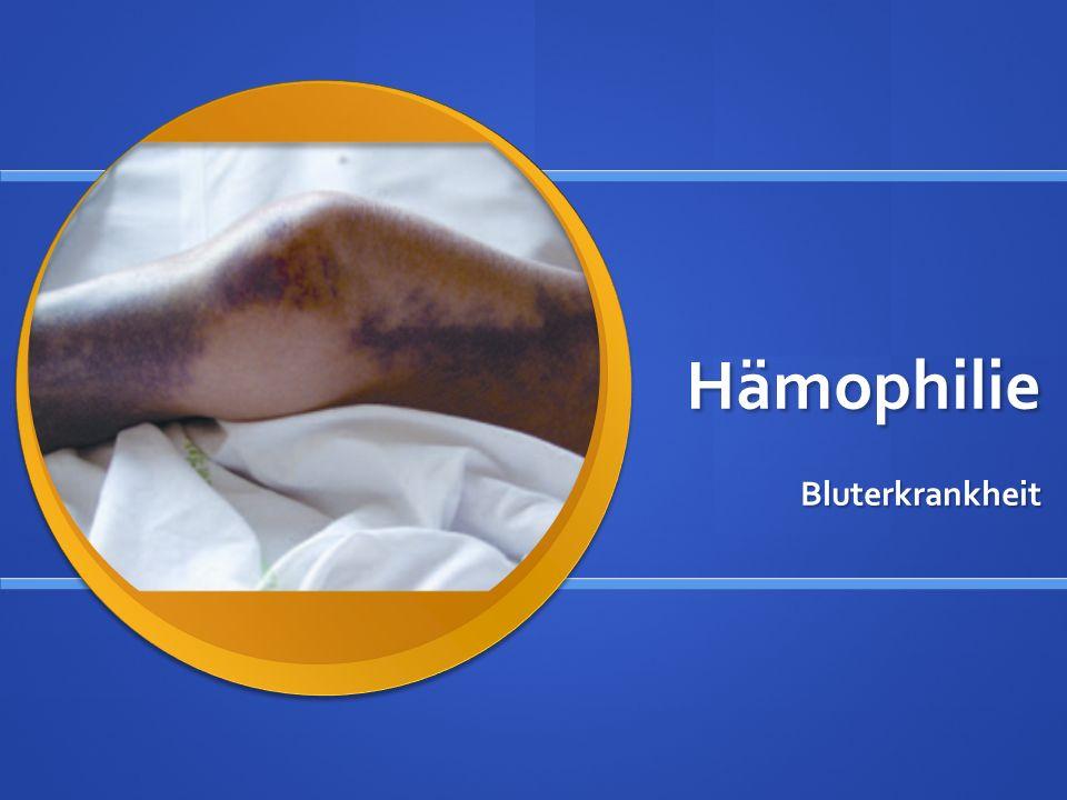 Hämophilie Bluterkrankheit