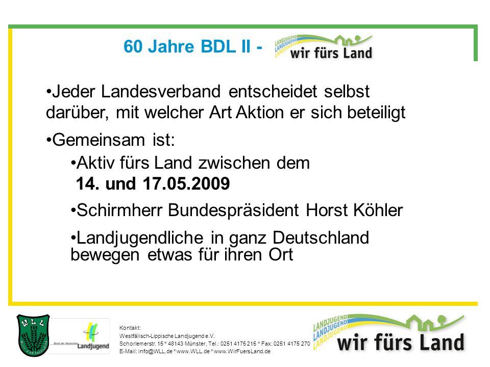 Kontakt: Westfälisch-Lippische Landjugend e.V.Schorlemerstr.