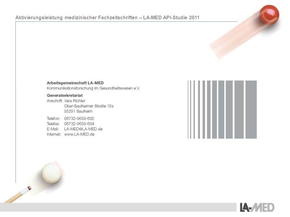 Aktivierungsleistung medizinischer Fachzeitschriften – LA-MED API-Studie 2011