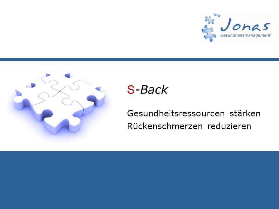 S -Back Gesundheitsressourcen stärken Rückenschmerzen reduzieren