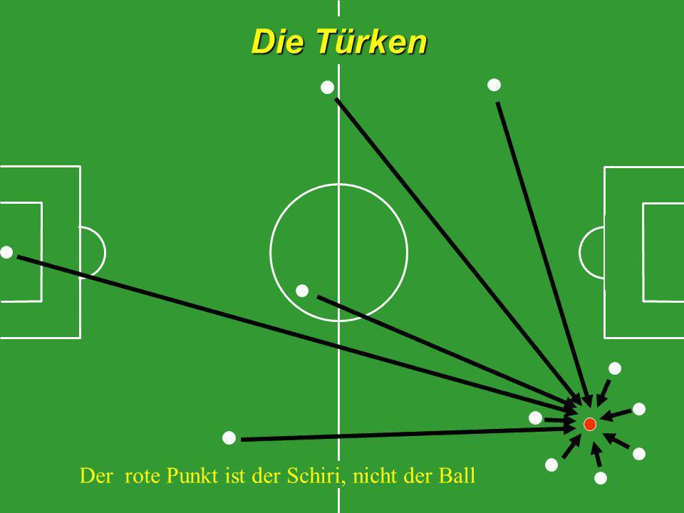 Die Türken Der rote Punkt ist der Schiri, nicht der Ball