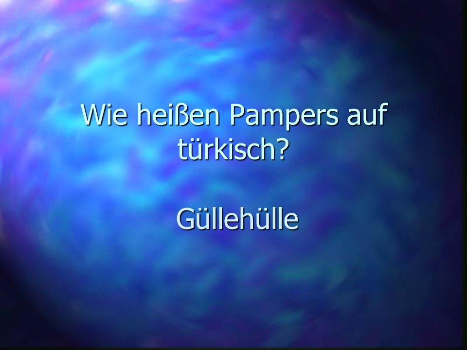 Wie heißen Pampers auf türkisch? Güllehülle